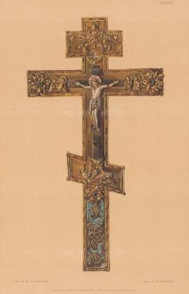 Orthodox gold and enamel Crucifix.