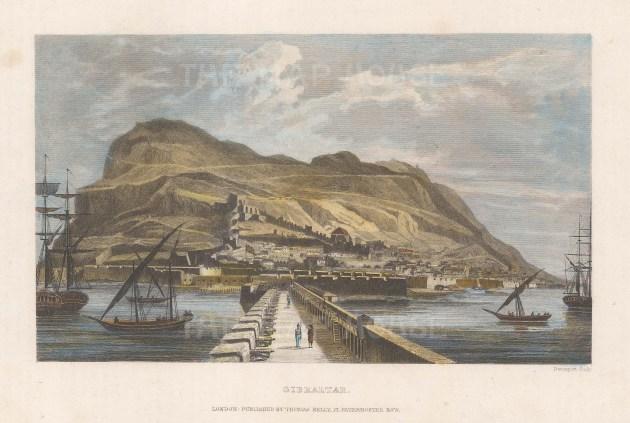 Bridge to Gibraltar: Looking at the rock from La Linea de la Concepcion.