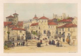 Plaza Del Campillo and a market stall on Calle Acera del Darro.