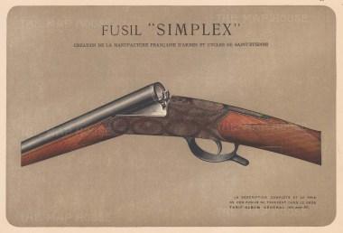 """Mahler: Gun. c1907. An original antique chromolithograph. 8"""" x 6"""". [FIELDp1400]"""