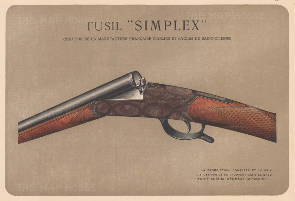 "Mahler: Gun. c1907. An original antique chromolithograph. 8"" x 6"". [FIELDp1400]"