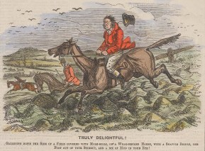 """Punch: Truly delightful. 1856. A hand coloured original antique wood engraving. 7"""" x 5"""". [FIELDp1429]"""