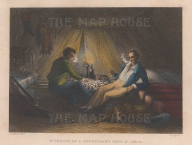 Interior of a Sportsman's tent.