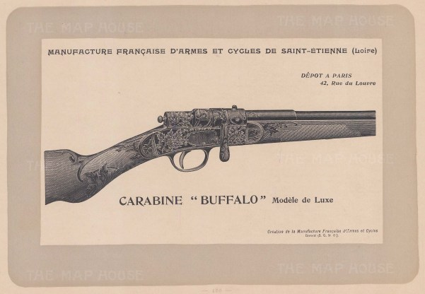 "Mahler: Gun. c1907. An original antique lithograph. 8"" x 6"". [FIELDp887]"