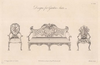 Two chairs and a bench. Plate XXIV.