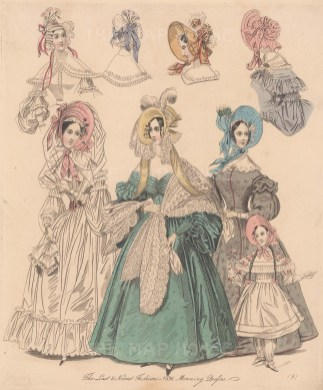 With four designs for hats & child's dress.