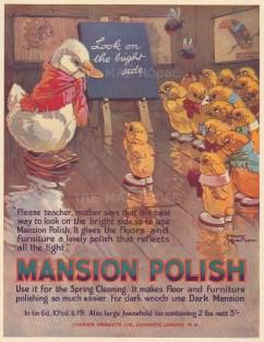 "Punch: Mansion Polish. 1931. An original vintage chromolithograph. 8"" x 10"". [DECp1798]"