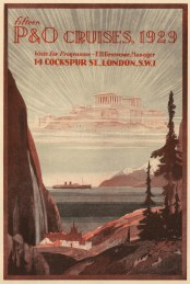 "Punch: P&O Cruises. 1929. An original vintage chromolithograph. 7"" x 10"". [DECp1930]"