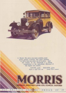 """Punch: Morris Motors. 1929. An original vintage chromolithograph. 8"""" x 10"""". [DECp2100]"""