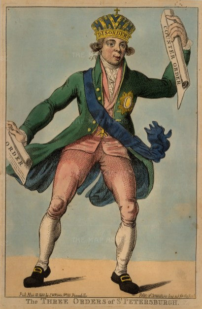 A satire on the uncertain intentions of Paul I in relation to the Anglo-Russian Coalition against the Dutch.