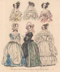 "Last & Newest: Ladies' Fashion. 1837. An original colour antique steel engraving. 7"" x 9"". [DECp874]"