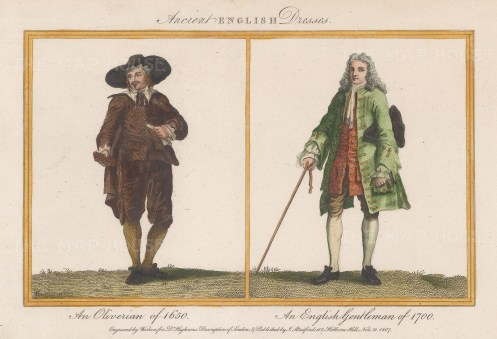 An Oliverian of 1650 and a Gentleman of 1700.