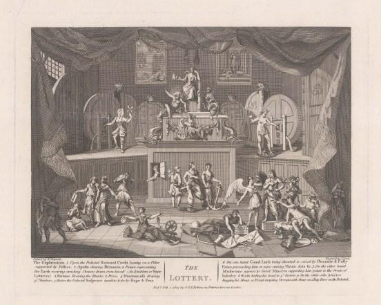 "Hogarth: Lottery. 1803. An original antique copper engraving. 13"" x 11"". [MISCp2924]"