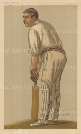 Walker William Read, Captain of England, during the orginal Ashes series 1882-3. LIB.