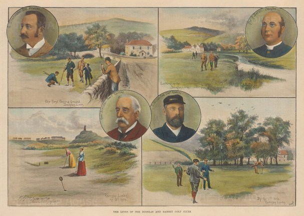 Douglas and Ramsey Links Golf Course. Four scenes with portraits.