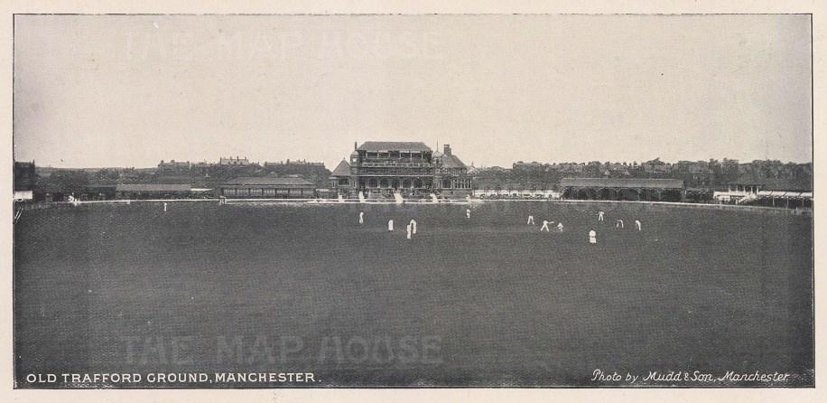 "Mudd & Son: Old Trafford Ground, Manchester. 1895. An original black & white antique photo-lithograph. 8"" x 4"". [SPORTSp3232]"