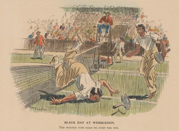 "Punch: Tennis. 1936. A hand coloured original vintage wood engraving. 7"" x 6"". [SPORTSp3463]"