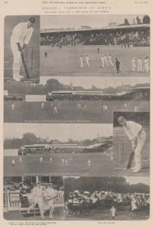 "ISDN: Lord's. 1902. An original black & white antique photo-lithograph. 12"" x 14"". [SPORTSp3535]"