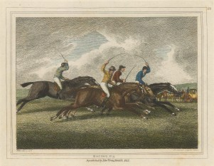 Plate 1. The Start. Devoted to field sports, Howitt was particularly known for the accuracy of his composition.