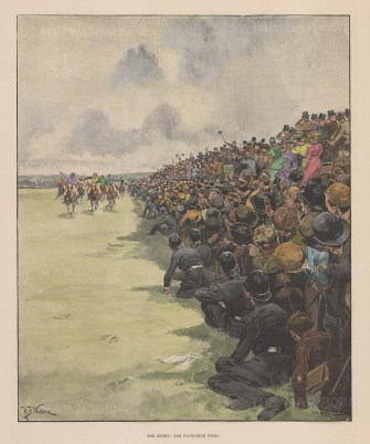 The Favourite Wins. Tommy Loates on Isinglass winning the Triple Crown. After the military artist William Barnes Wollen.