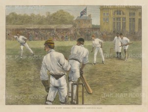 Middlesex versus Nottinghamshire. Shrewsbury caught out by Phillips.
