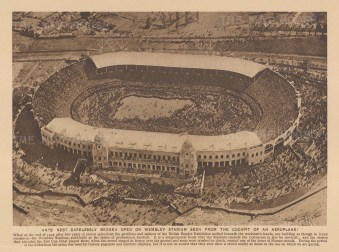 "Adcock: Wembley. 1927. An original vintage photo-lithograph. 9"" x 6"". [SPORTSp3636]"