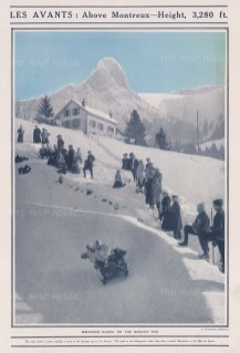 Bobsleighing: Les Avants 3280ft. A race on the Sonloup run above Montreux.