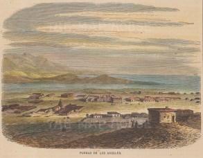 Los Angeles. View of the Pueblo de Los Angeles, the oldest quarter of the city.