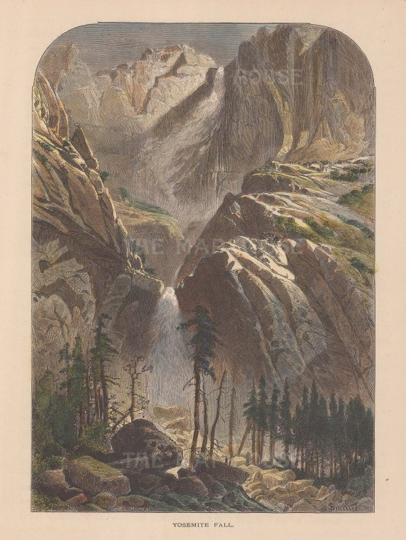 Yosemite Falls: View of the upper, middle, and lower cascades.
