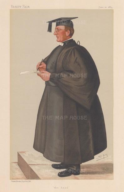 """""""Head"""" Rev. Edmond Warre. SPY."""
