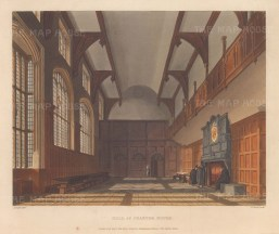 Interior view of hall.