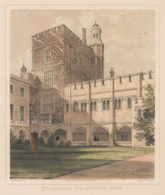 Cloisters with Lupton's Tower.