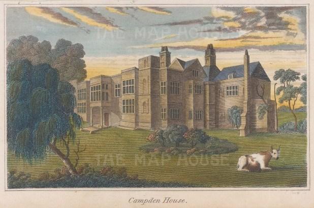 Campden House, now Campden Hill between Holland Park and Notting Hill.