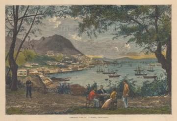 "Graphic Magazine: Victoria. 1883. A hand coloured original antique wood engraving. 8"" x 4"". [SEASp1759]"