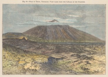 Canary Islands: Tenerife. Peak of Teyde from the Canadas of the Guanches.