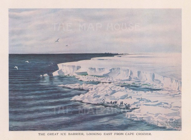 Great Ice Barrier: Looking east from Cape Crozier. Terra Nova Expedition 1910-13.