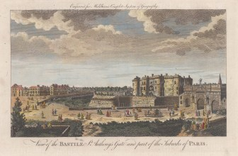 Bastille: View of the Citadel, St Andrew's gate, and the then suburbs.