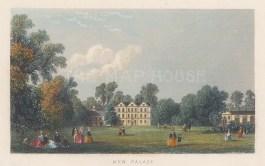 "Tallis: Kew Palace. 1851. A hand coloured original antique steel engraving. 4"" x 3"". [LDNp10902]"