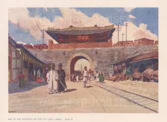 Seoul: View of the gateway in the city's wall. After Edward Fitchew.