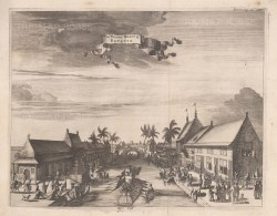 Java: Batavia (Jakarta). View of the Tygers Canal in the Old Town. After Johan Nieuhoff.