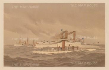Naval Ships: The Machias, Katahdin, and Iowa.