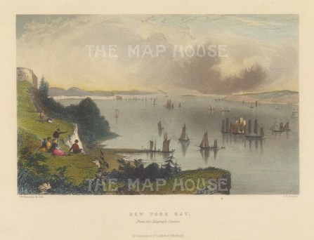 New York Bay: View from the Telegraph station.