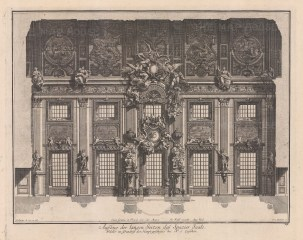 Baroque Wall Design: Long side of a main walk in a central hall.