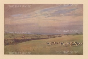 Fox Hunting. The Cottesmore. Looking towards Whissendine, from near Melton Road.