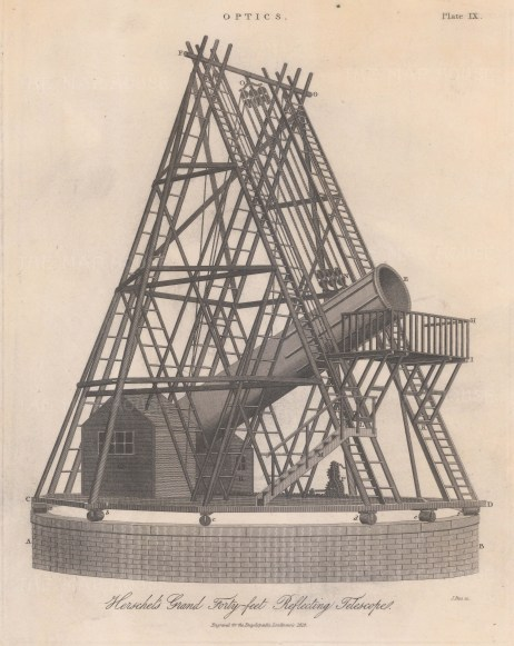 Telescope: Sir William Herschel's Grand Reflecting Telescope.