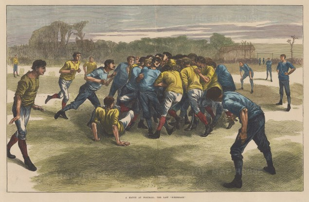 Oval: The Last Scrimmage after Edwin Buckman. England v. Scotland friendly prior to the first official match in 1872.