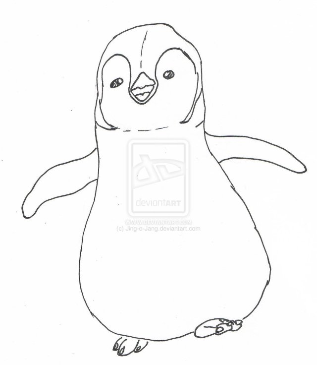 Happy feet mumble coloring pages