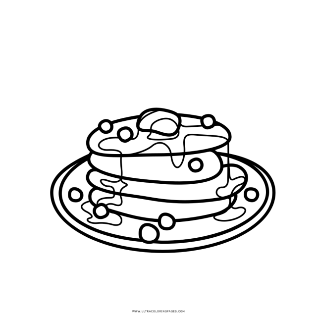 Pancake Coloring Page - Ultra Coloring Pages