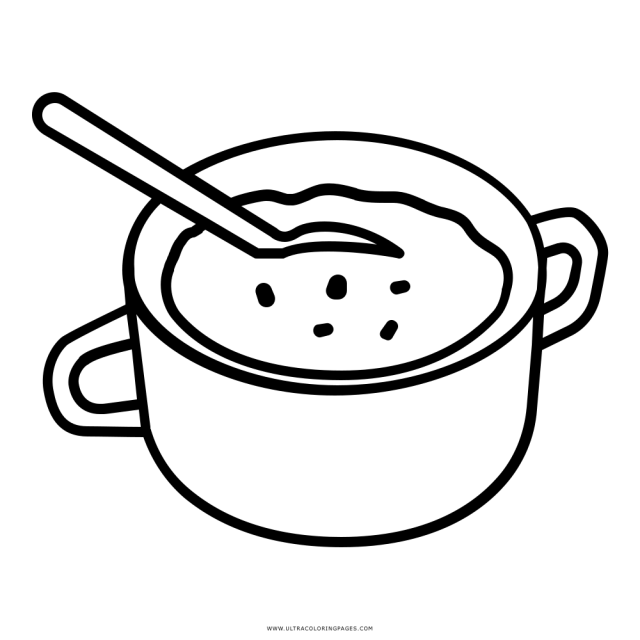 Soup Coloring Page - Ultra Coloring Pages