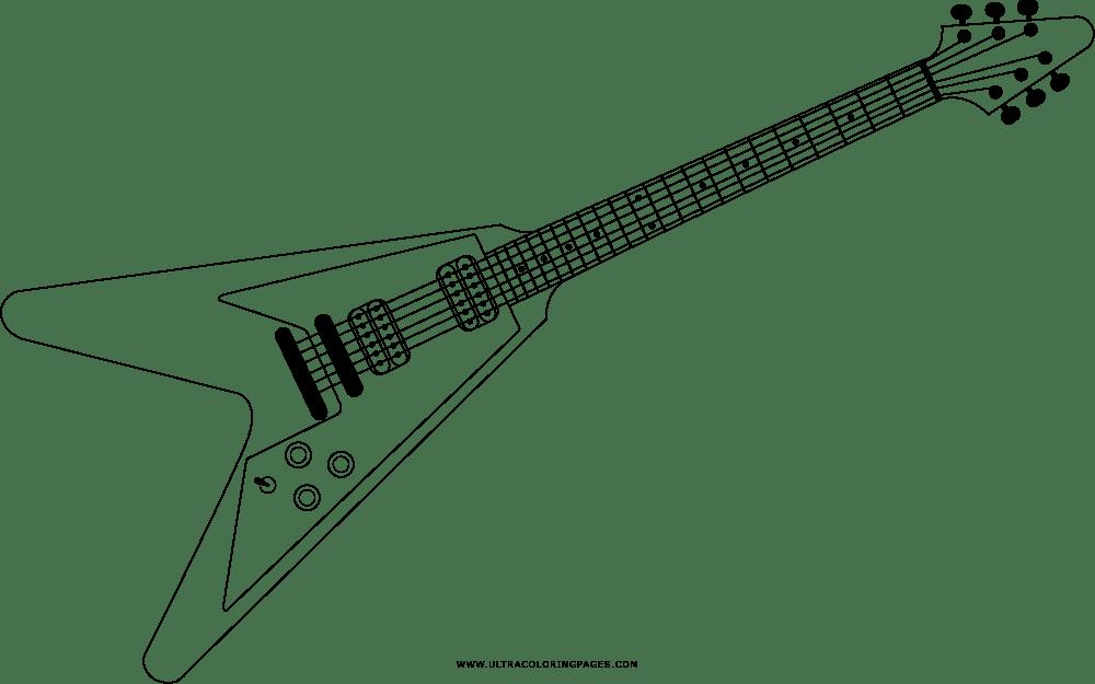 Guitarra Electrica Para Colorear Dibujos